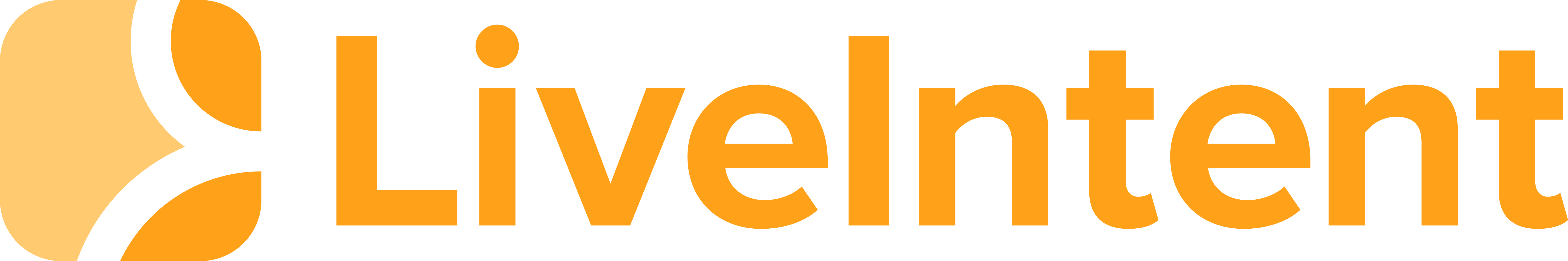 LiveIntent Logo Horizontal Orange PNG