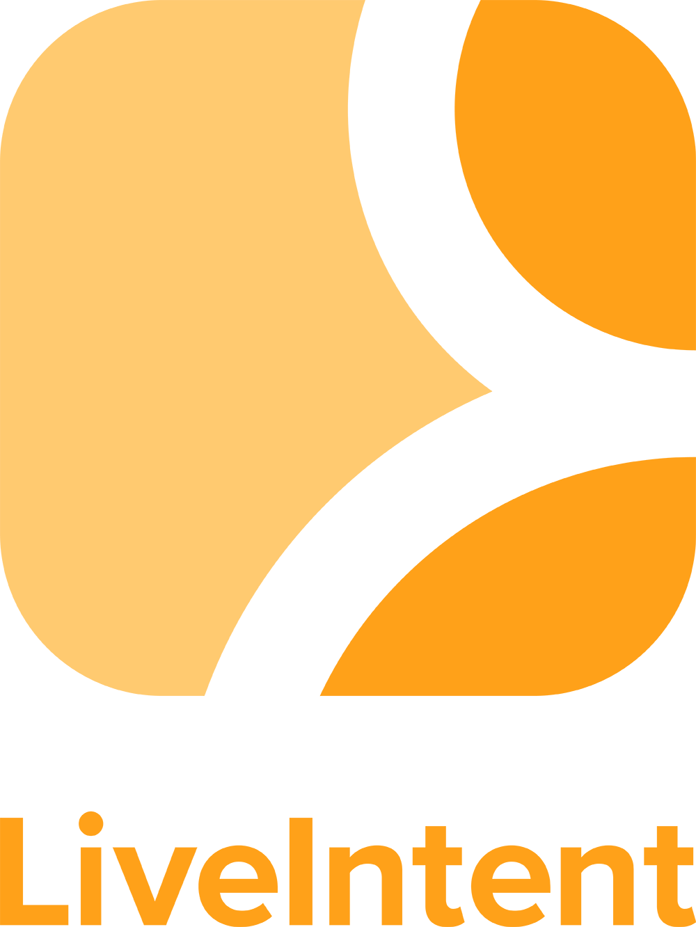 LiveIntent Logo Vertical Orange PNG